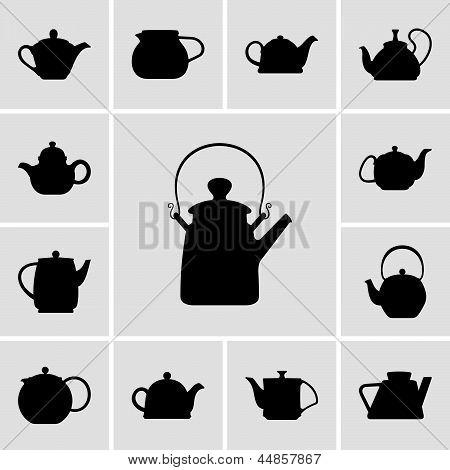 Teapots icons