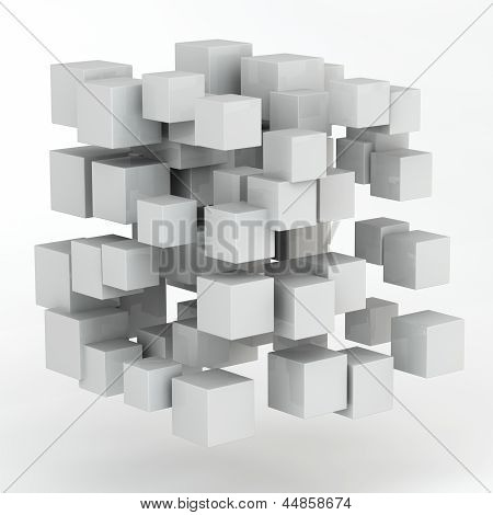 3D Abstract Random Shape From Cubes