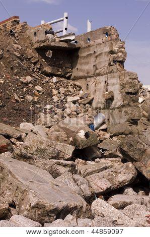 Coastal Erosion Ulrome, East Yorkshire, England