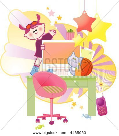 Girl's Working Table