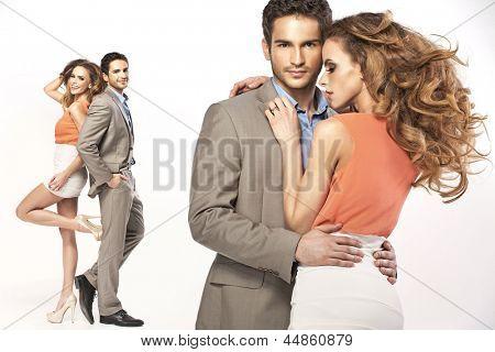 Elegant couple posing