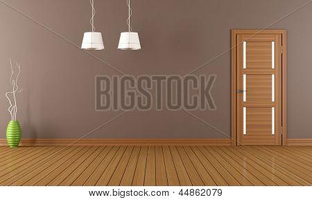 Brown Empty Room