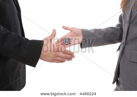 Business Handshake Joke