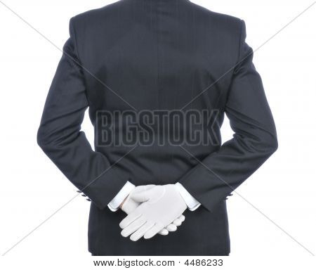 Butler With Hands Behind His Back
