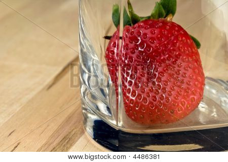 Strawberry In The Glass