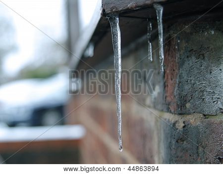 icicle on a ledge