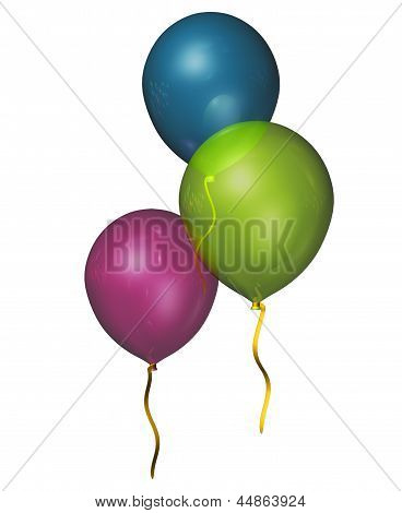 Isolated Party Balloons