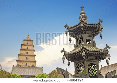 Giant Wild Goose Pagoda, X'ian, China