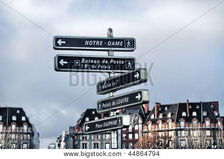 Information Signage In Paris.