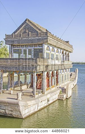The Marble Boat Of Purity And Ease, Summer Palace, Beijing, China