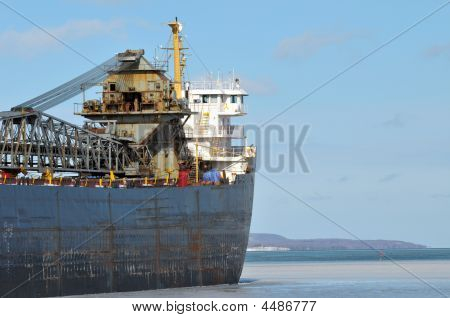 Great Lakes Freighter Ship
