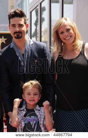 LOS ANGELES - APR 22:  Kevin Richardson, family at the ceremony for the