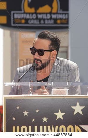 LOS ANGELES - APR 22:  AJ McLean at the ceremony for the