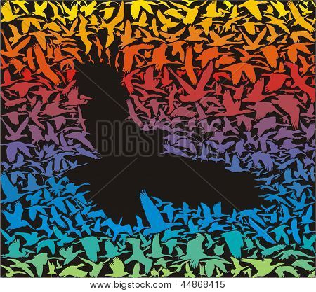 Abstract Predator Bird And Its Prey.eps