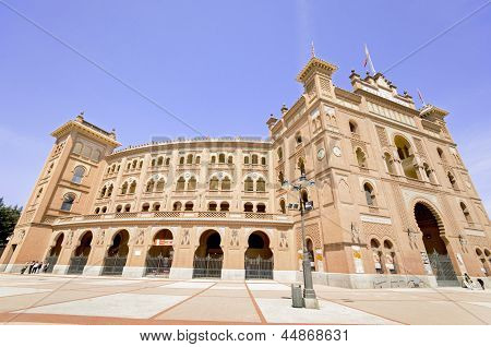 Madrid - April 13: Famous Bullfighting Arena In Madrid. Plaza De Toros De Las Ventas,on April 13, 20