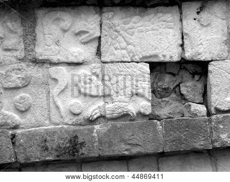 Chichen Itza Mayan Glyphs Eagle