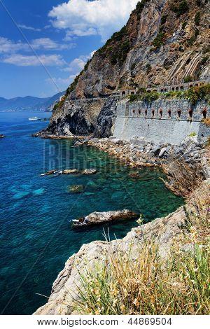 Ligurian coast at Cinque Terre, Italy