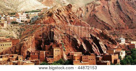 Moroccan kasbah in Atlas Mountains, Africa