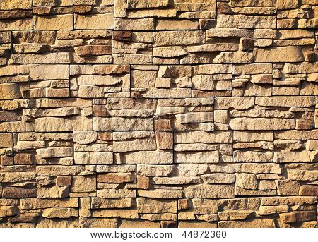 The old vintage dark brick wall background