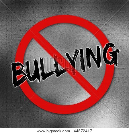 No bullying sign