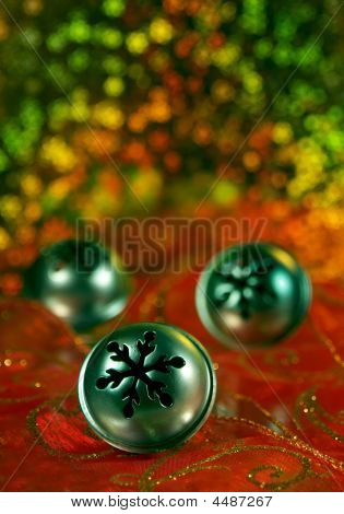 Three Christmas Bell Ornaments