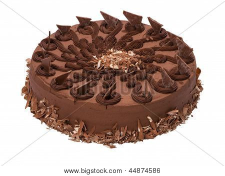 Ruffle Decorated Chocolate Torte - Cake