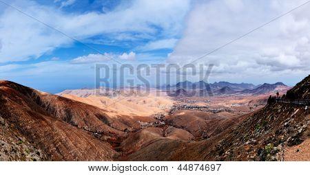 Mountain chain at sunset, Fuerteventura, Canary Islands, Spain