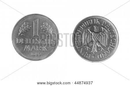Pre-EWG jetzt nicht in Gebrauch, Deutsche Mark, isolated on white