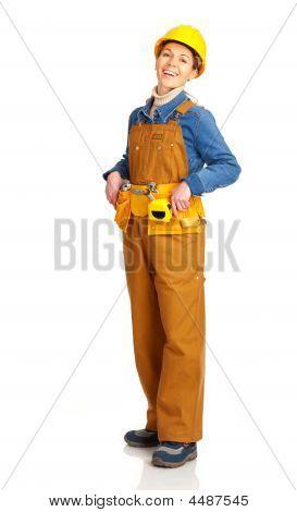 Mujer de constructor