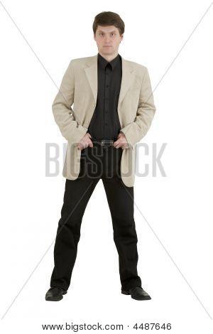Man In Light  Jacket
