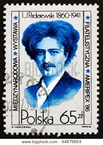 Postage Stamp Poland 1984 Ignacy Jan Paderewski, Pianist