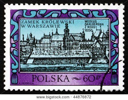 Postage Stamp Poland 1972 Warsaw Royal Castle, 1656
