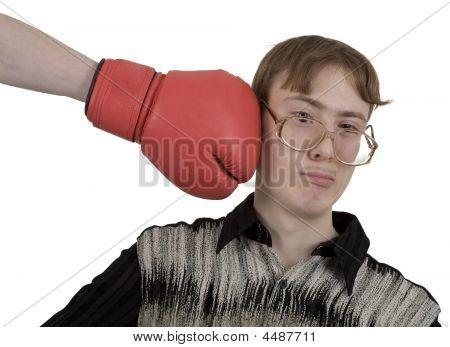 Man Of Kick On Boxer Glove