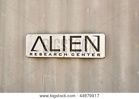 Alien Research Sign