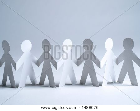 Paper Doll Cut Outs Standing