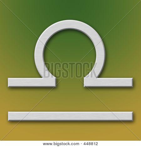 Libra Aluminum Symbol