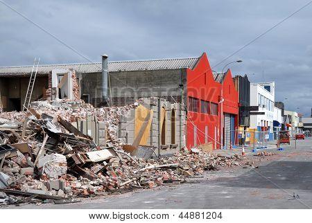 Terremoto de Christchurch - St Asaph Street daños