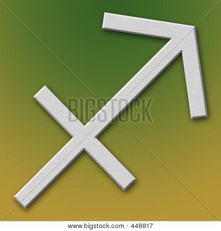 Sagittarius Aluminum Symbol