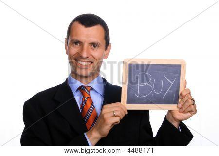 Hombre de negocios con gráfico