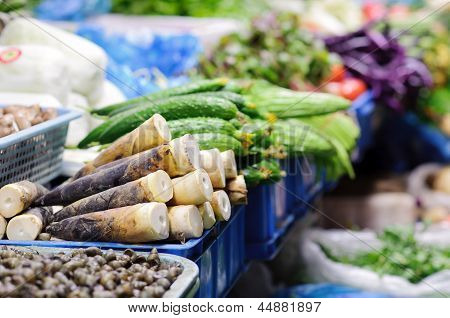 Vegetable Stall at Chinese Market