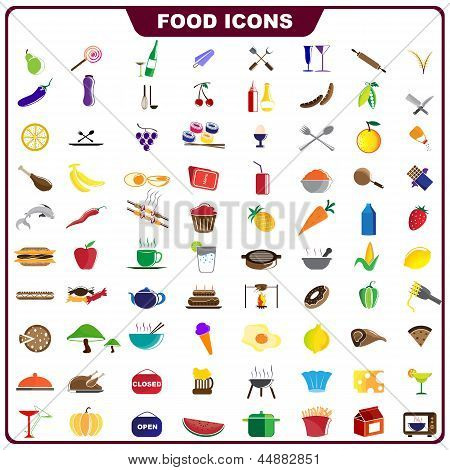 Colorful Food Icon