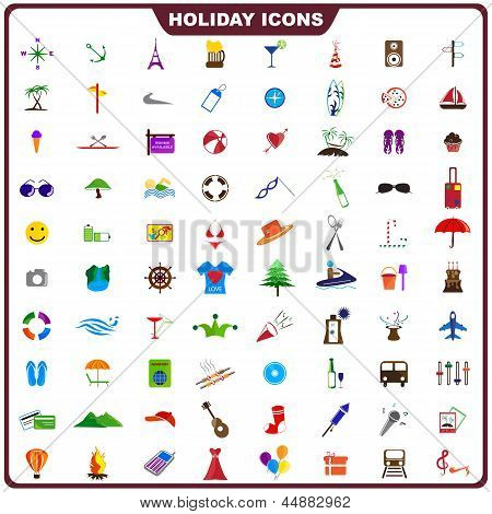 Colorful Holiday Icon