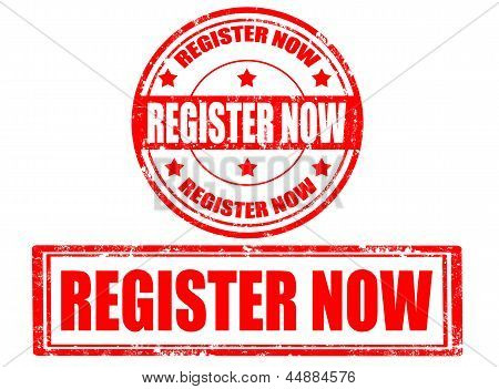 Register Now Stamps