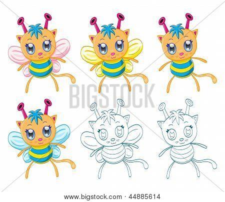 Cartoon chibi fantasy creatures (monsters)