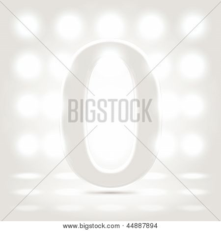 0 Over Lighted Background