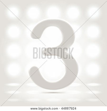 3 Over Lighted Background