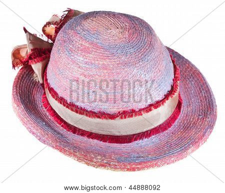 Painted Woman Summer Straw Hat
