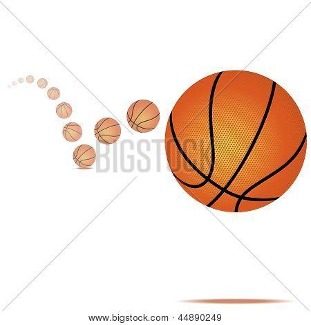 Vector Bouncing Basketball