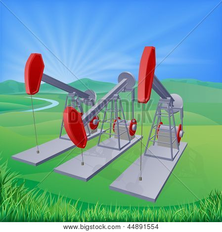 Oil Well Pumpjacks
