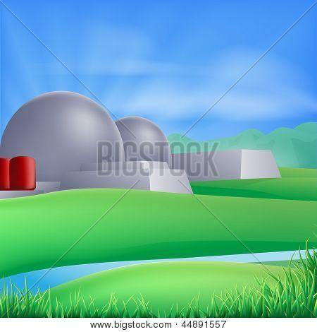 Nuclear Power Energy Illustration